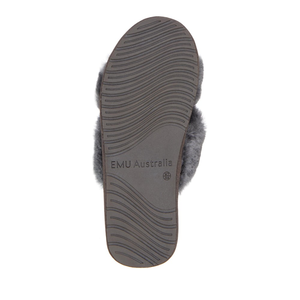 EMU Australia Mayberry Slippers Charcoal