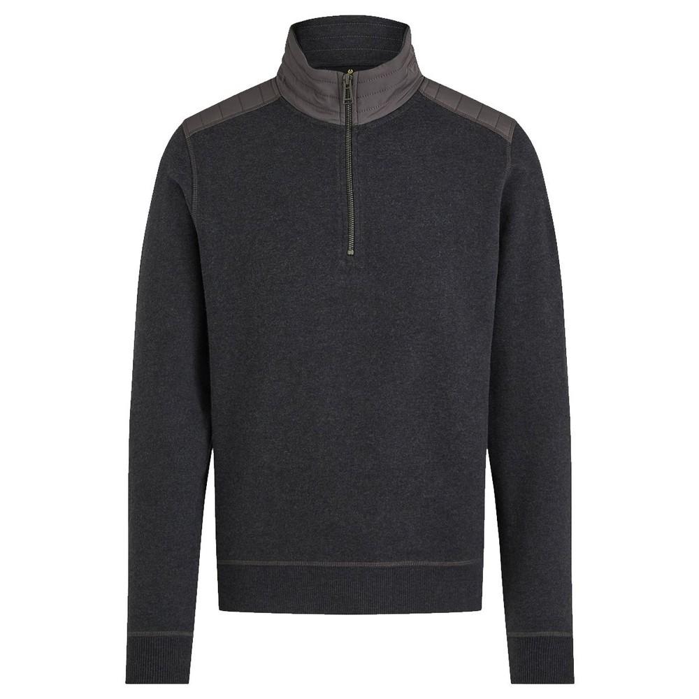 Belstaff Jaxon Quarter Zip Sweater Dark Charcoal Melange
