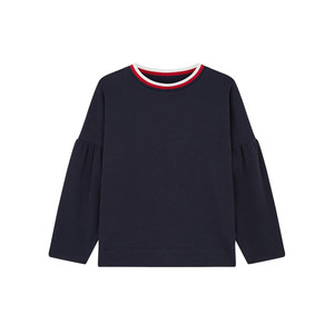 Chinti And Parker Tulip Sleeve Top with Drop Shoulders Navy