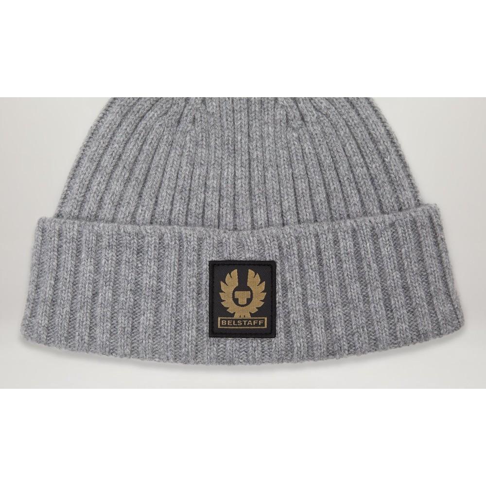 Belstaff Watch Wool Hat Pale Grey Melange