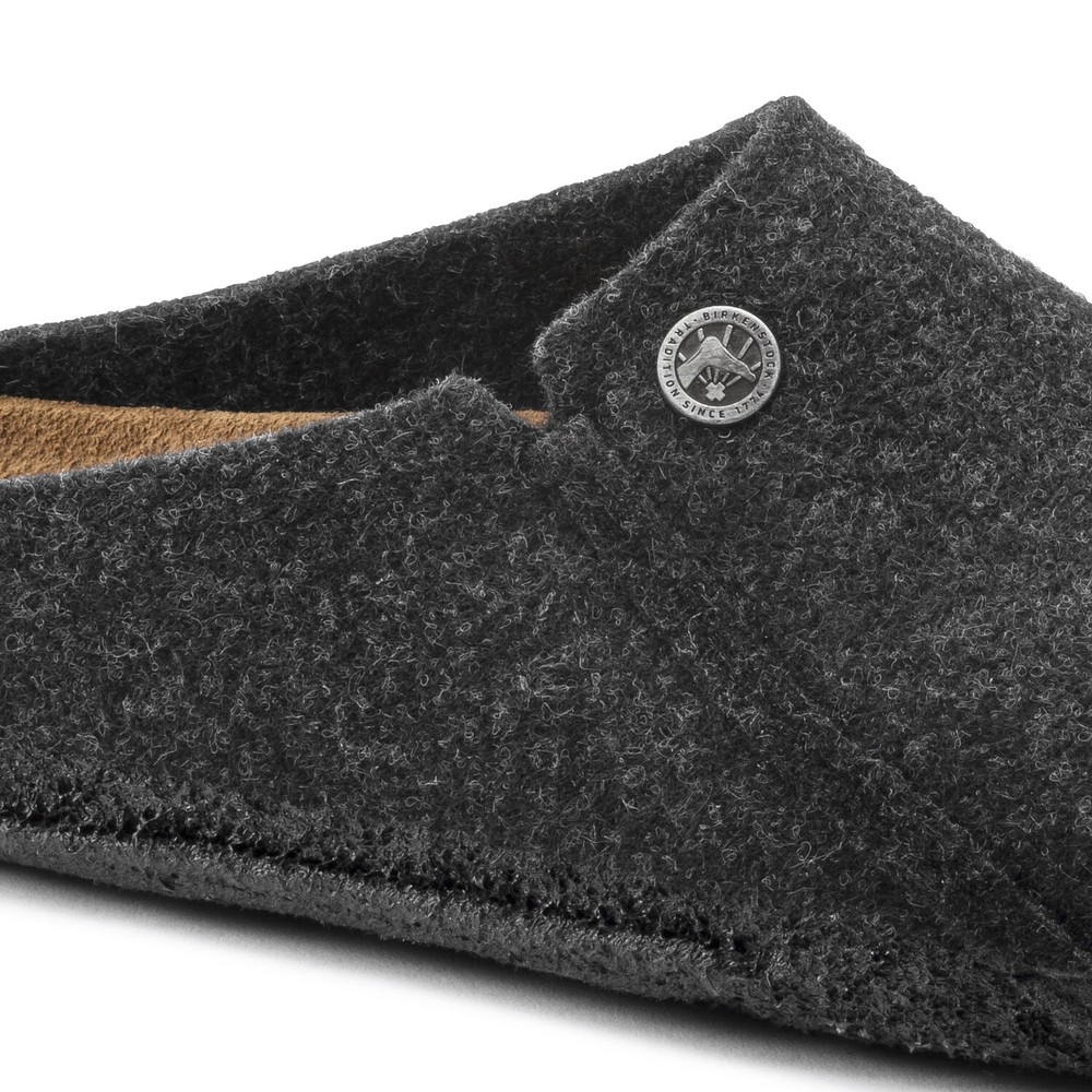Birkenstock Zermatt Standard Slippers Anthracite