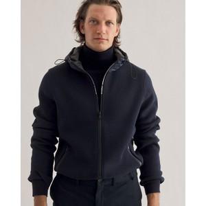 Bargalf Knit Hooded Jacket Deep Navy