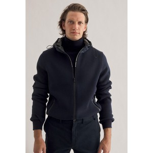 Ecoalf Bargalf Knit Hooded Jacket Deep Navy
