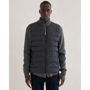 Sonsecalf Puff/Knit Jacket Dark Grey Melange