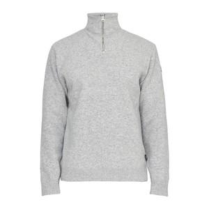 Holebrook Bjorn Mock Neck Zip Jumper Grey Melange