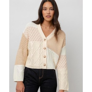 Reese Jumper Cream Patchwork Cable