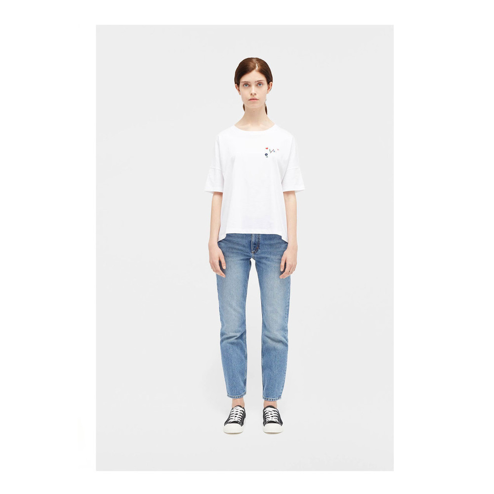Chinti And Parker Love Arrow Short Sleeve Boxy Fit Tee White