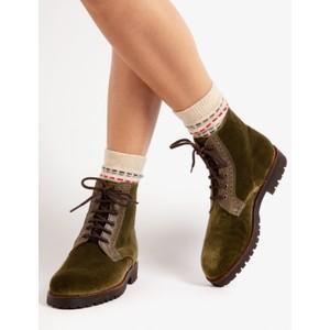 Penelope Chilvers Rodriguez Velvet Boot Moss
