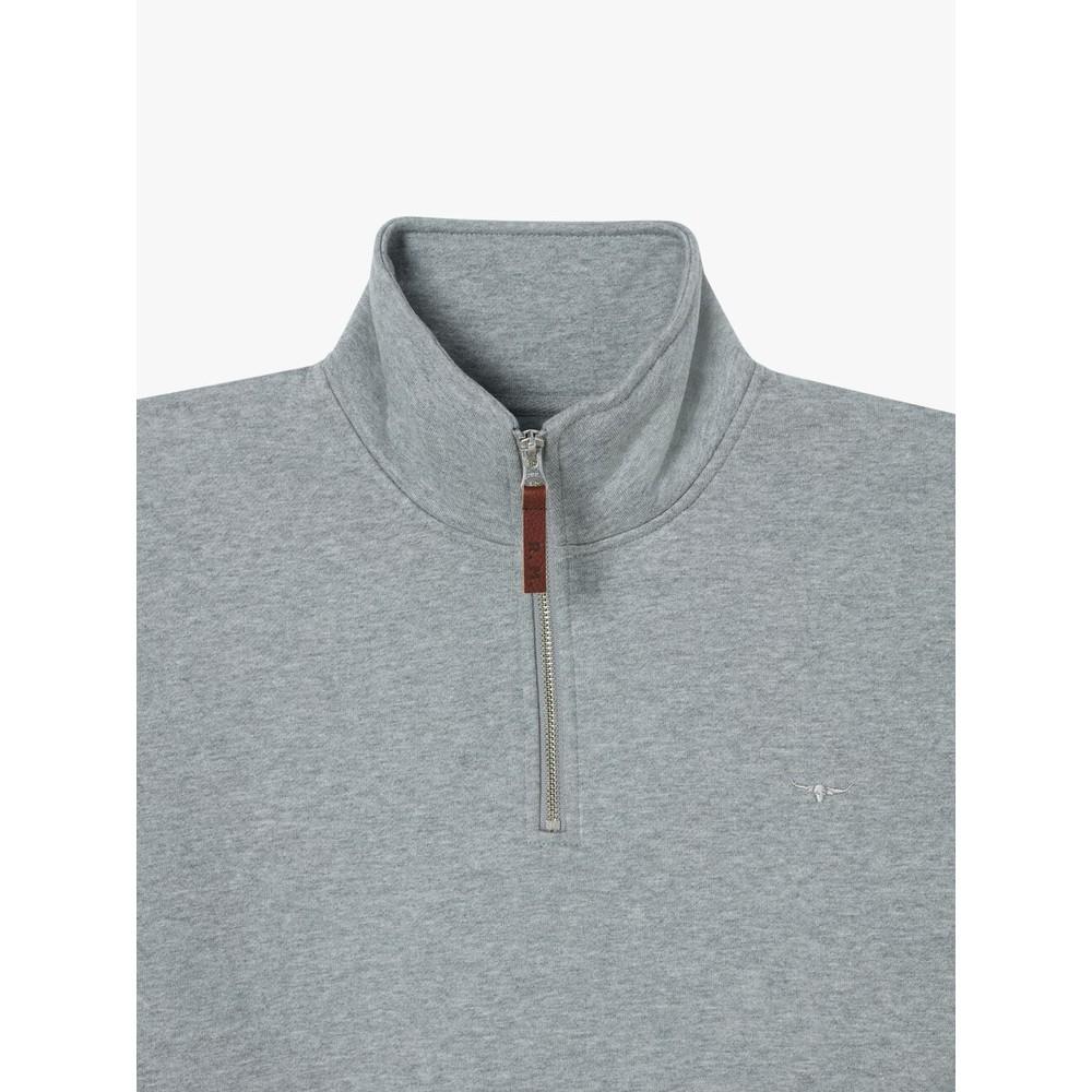 R.M.Williams Mulyungarie Half Zip Sweater Grey Marl