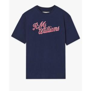 R.M.W Script T-Shirt Navy/Red