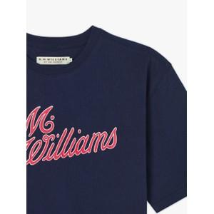 R.M.Williams R.M.W Script T-Shirt Navy/Red