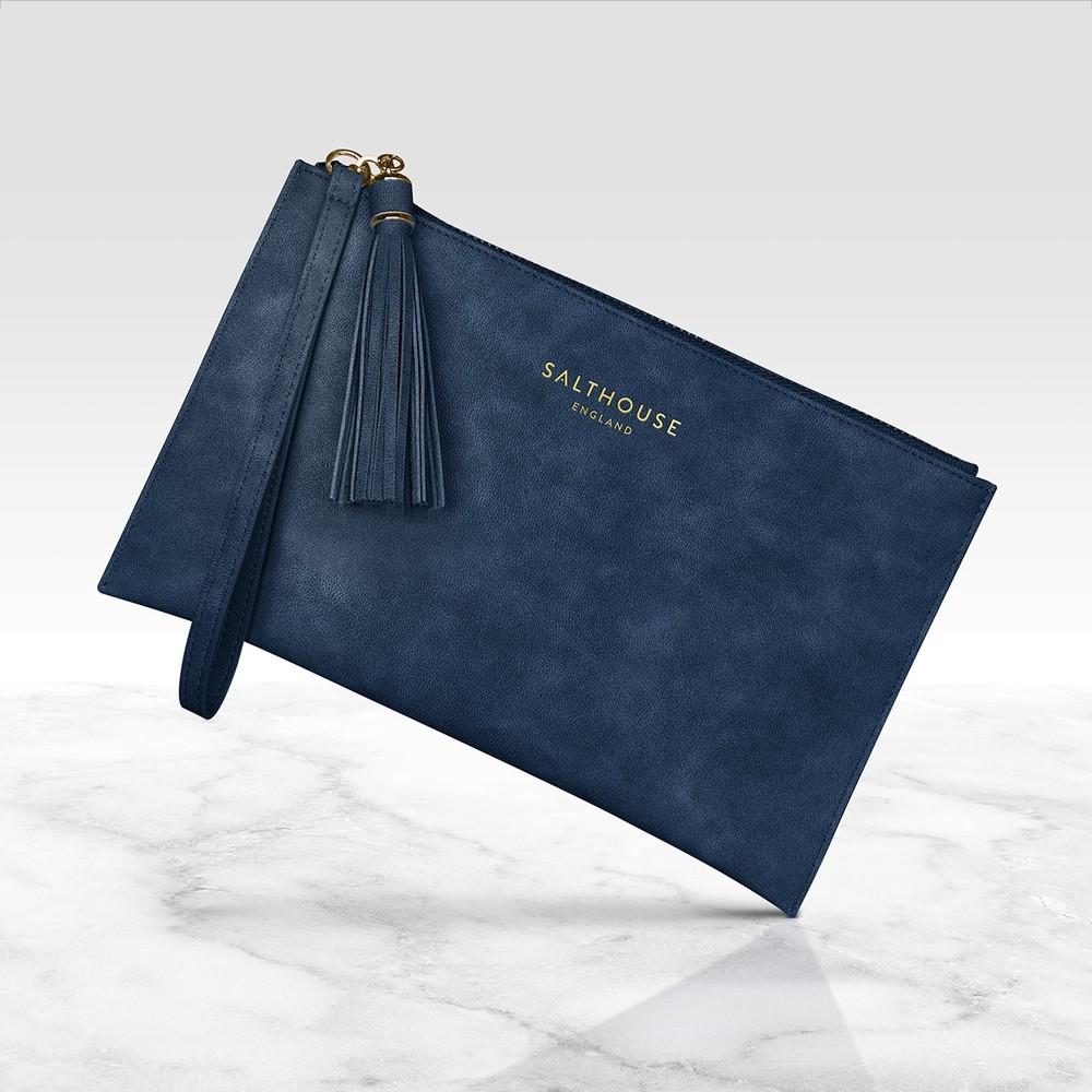 Salthouse Serafina Clutch Bag Navy