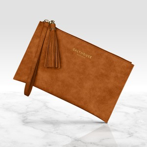Salthouse Serafina Clutch Bag in Tempting Toffee