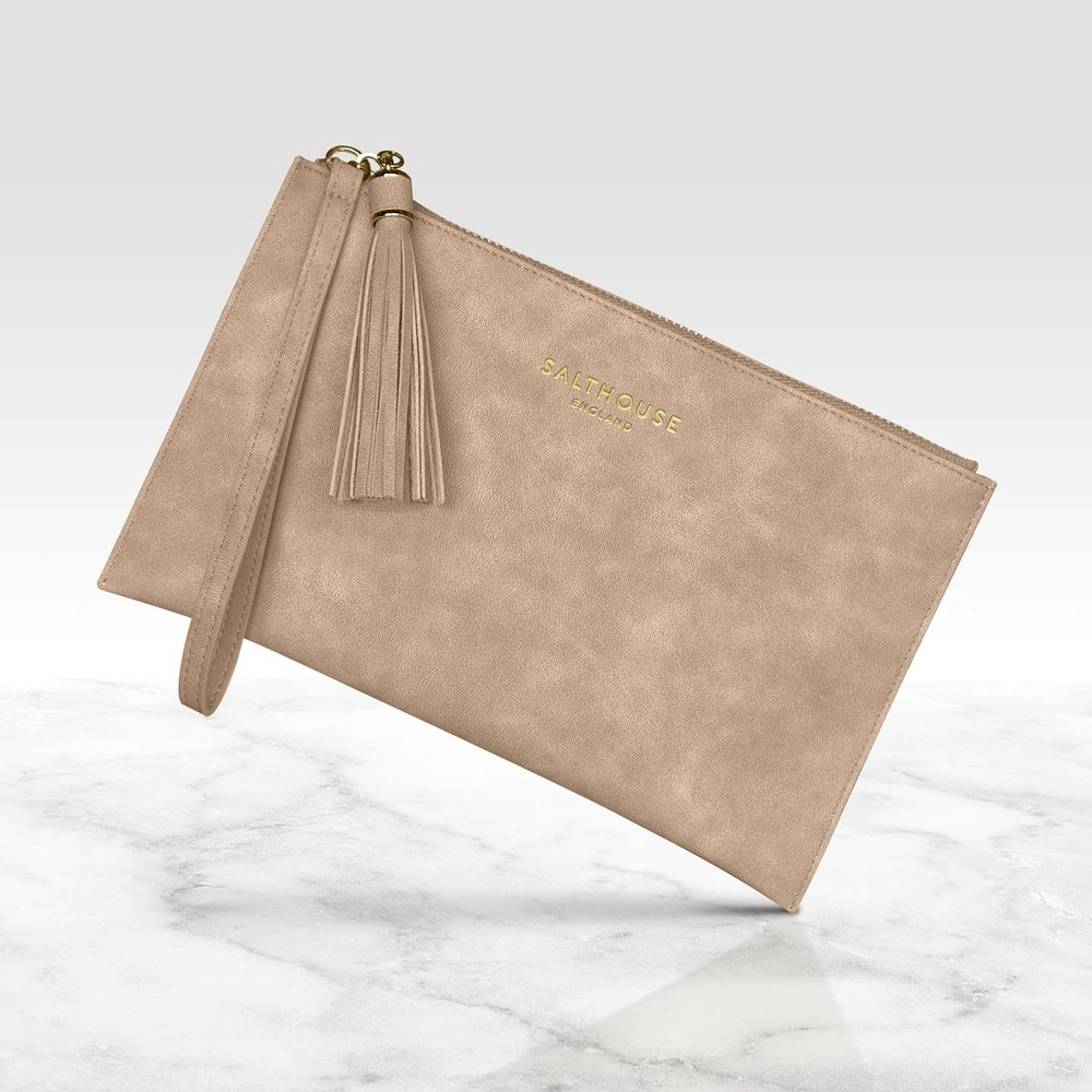 Salthouse Serafina Clutch Bag Naughty Nude