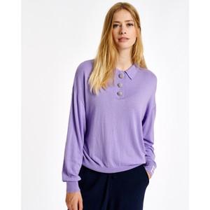Actay Polo Collar Sweater Lilac Rain