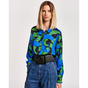 Acquire Print Oversized Shirt Klein Blue/Multi
