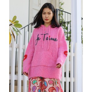 Jane Yes/No Heart Hoodie Orchid