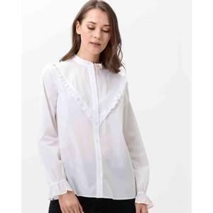 Vida Ruffle Shirt White