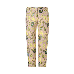 Louise Jacquard Crop Trousers Blazing Flower
