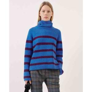 Chikita High Neck Stripe Jumper Purple/Blue