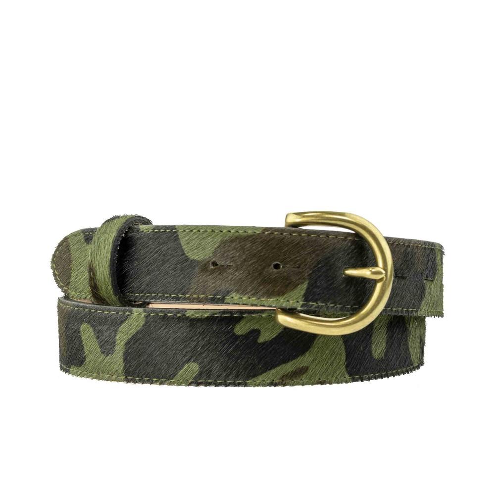 Peachy Belts Camouflage Print Belt Camo Green