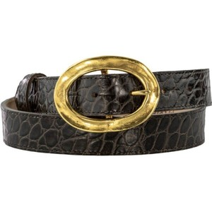 Peachy Belts Chunky Gold Oval Buckle Gold