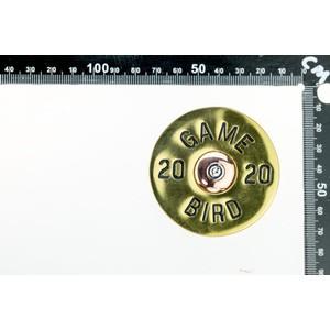 Peachy Belts Gold Cartridge Buckle Gold/Black