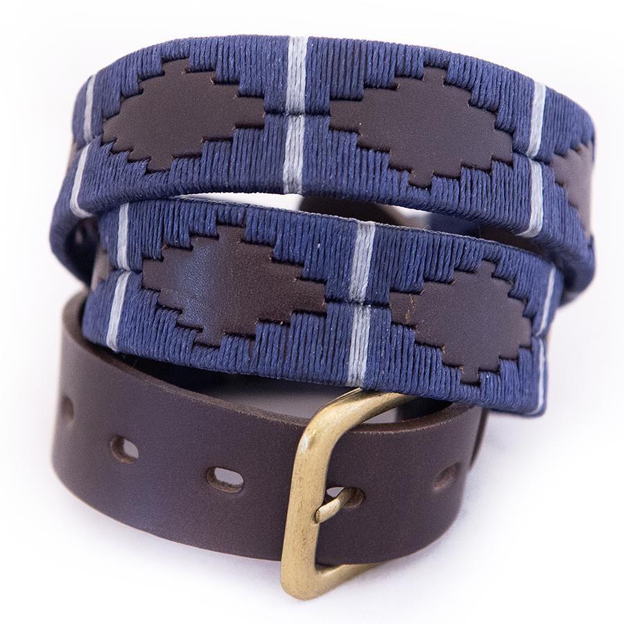 Pioneros Polo Belt Navy/silver/grey stripe