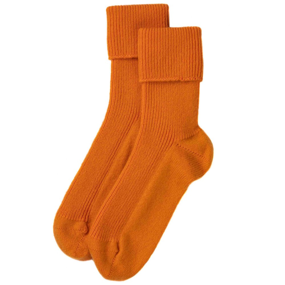 Rosie Sugden Ladies Cashmere Socks Orange