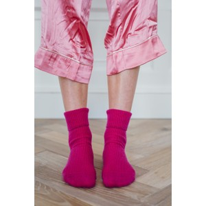 Rosie Sugden Ladies Cashmere Socks Fuchsia