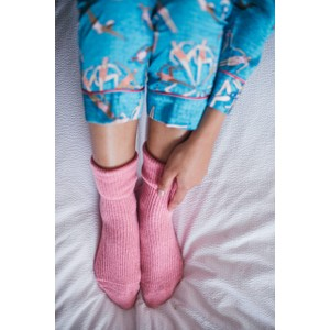 Rosie Sugden Ladies Cashmere Socks Bright Rose