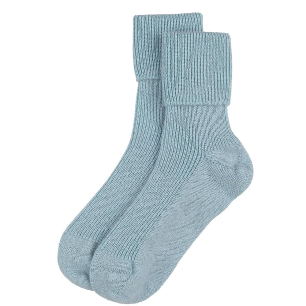Rosie Sugden Ladies Cashmere Socks Cove Blue