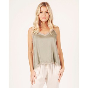 Suzy D Lace Trim Camisole in Taupe