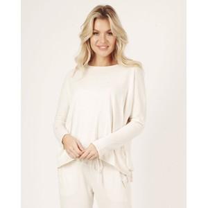 Suzy D Hi Lo Cotton Jersey Top White