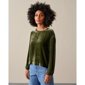 Adil Velvet Sweatshirt Olive