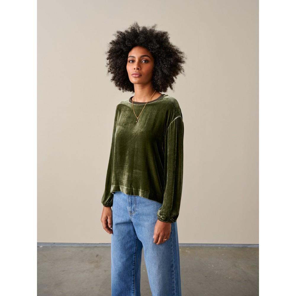 Bellerose Adil Velvet Sweatshirt Olive