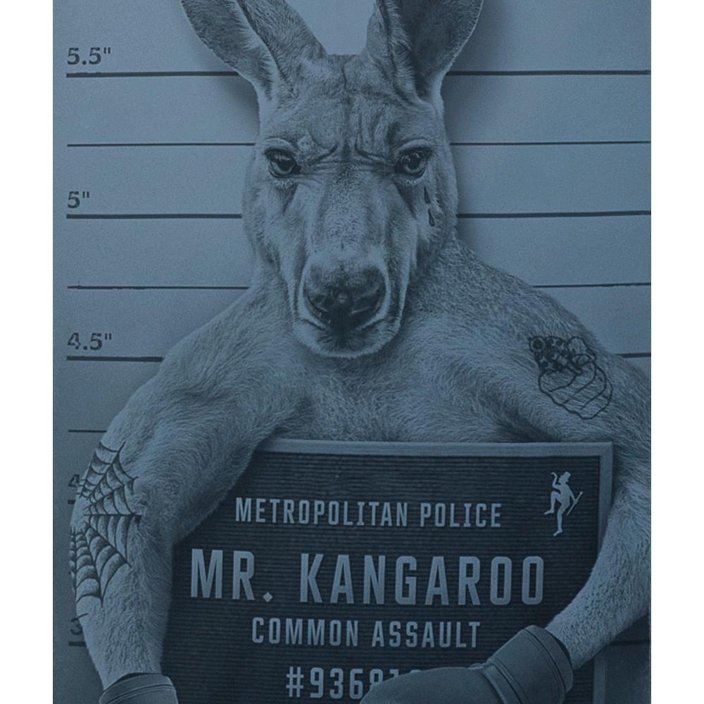 Dirty Velvet Mr Kangaroo T Shirt Noble Blue
