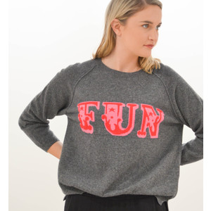 Fun Sweater Dark Grey/Red