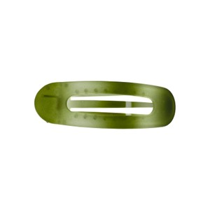 Black Colour Sussi Big Batique Hair Claw in Army