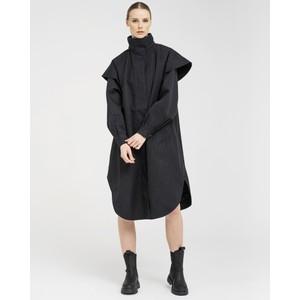 BRGN Tyfon Coat in Black Tweed