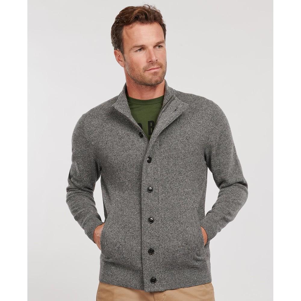 Barbour Tisbury Zip Through Knit Grey