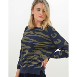 Wild Camo Sweater Navy/Khaki