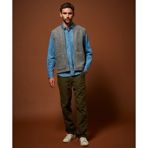 Hartford Knitted Vest With Pockets Grey