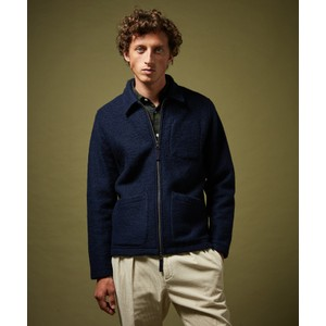 Knitted Jacket W-Front Pockets Navy