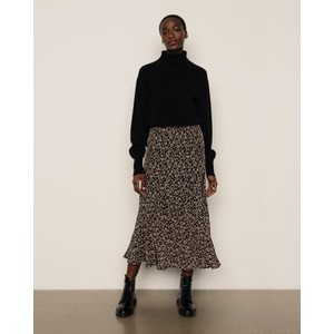 Lottie Floral Midi Skirt Floral Leopard Black