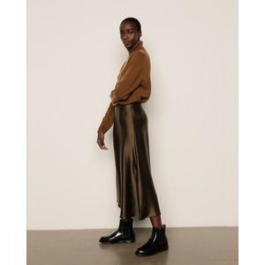 Poppy Silk Skirt Khaki