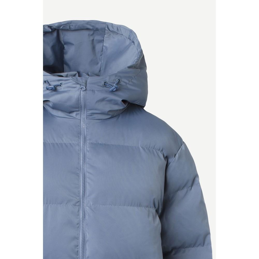 Samsoe Samsoe Sera Quilted Long Coat China Blue