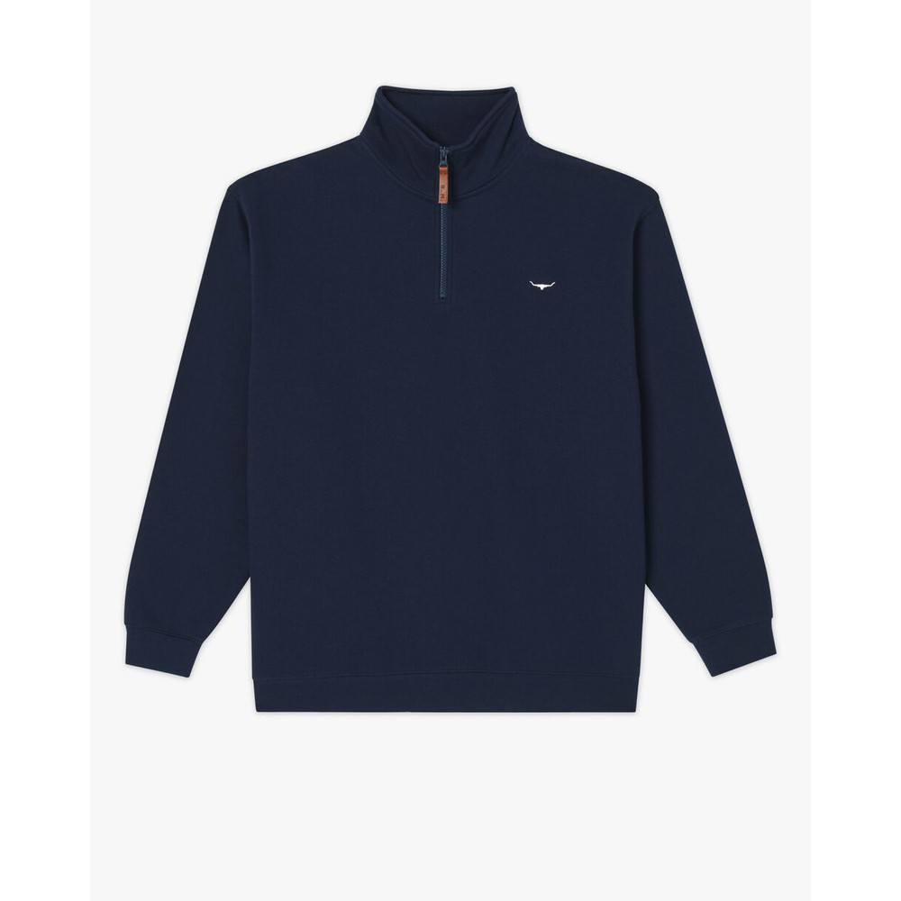 R.M.Williams Mulyungarie Half Zip Sweater Navy