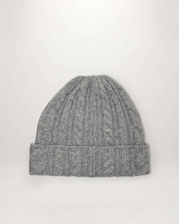 Belstaff Hillary Cable Hat Grey Melange