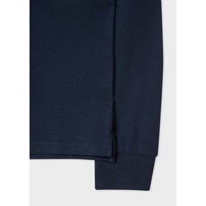 Paul Smith Long Sleeve Zebra Polo Shirt Navy